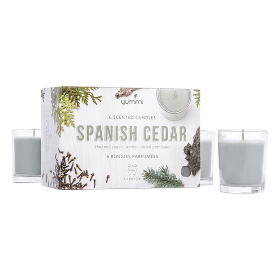 Yummi 2oz Jar Candle - Spanish Cedar - 6 pack