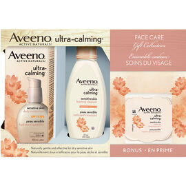 Aveeno Active Naturals Ultra-Calming Face Care Gift Collection - 3 piece