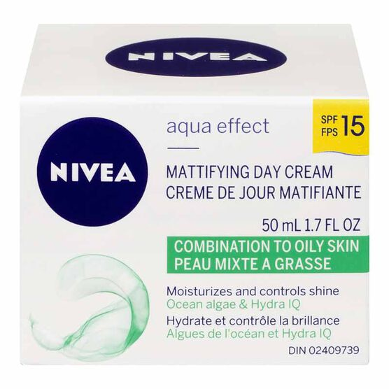 Nivea Aqua Effect Mattifying Day Cream - SPF 15 - 50ml