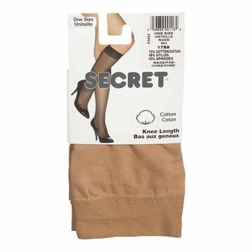 Secret Cotton Trouser Sock - Nude