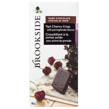 Brookside Dark Chocolate Bar - Tart Cherry Crisp with Pomegranate Flavour - 90g