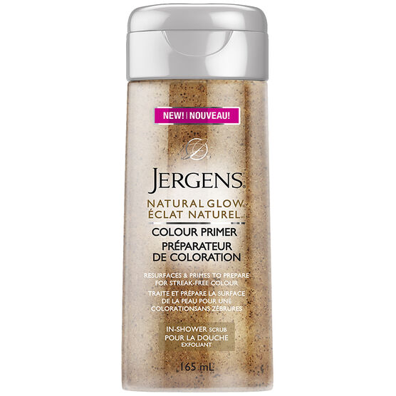 Jergens Natural Glow Colour Primer In Shower Scrub - 165ml