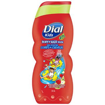 Dial Kids Body+Hair Wash - Bursting Apple Rapids - 354ml
