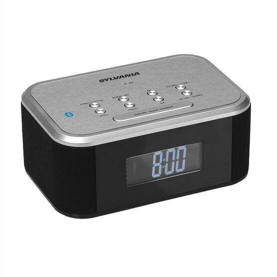 Sylvania Bluetooth Dual Alarm Clock Radio - Black/Silver - SCR2469BT