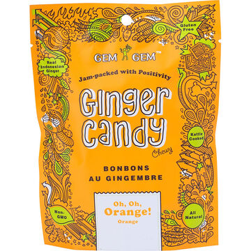 Gem Gem Ginger Candy - Oh, Oh, Orange - 99g