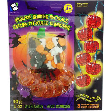 Pumpkin Blinking Necklace with Candy - 30g
