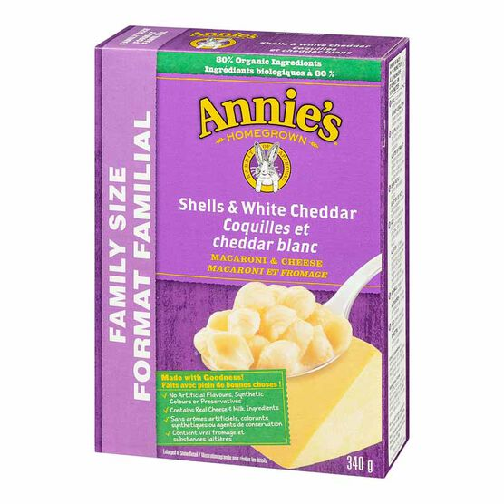 Annie's Shells & White Cheddar - Family Size - 340g