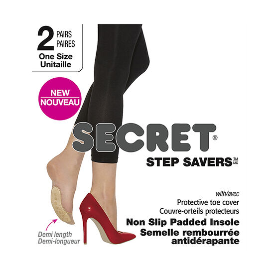 Secret Step Saver Demi Length Non Slip Insoles - Medium Nude
