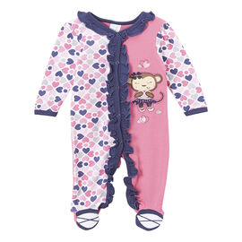 Baby Mode Monkey Coverall - 7616 - Assorted
