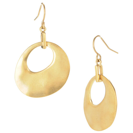 Kenneth Cole Circle Drop Earrings - Gold Tone