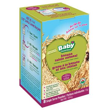 Baby Gourmet Banana Raisin Oatmeal Cereal Singles - 8 packets - 104g