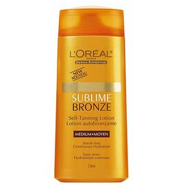 L'Oreal Dermo-Expertise Sublime Bronze Self -Tanning Lotion - Medium - 150ml