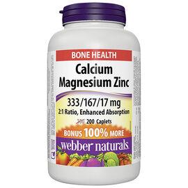 Webber Naturals Calcium Magnesium with Zinc - 100's