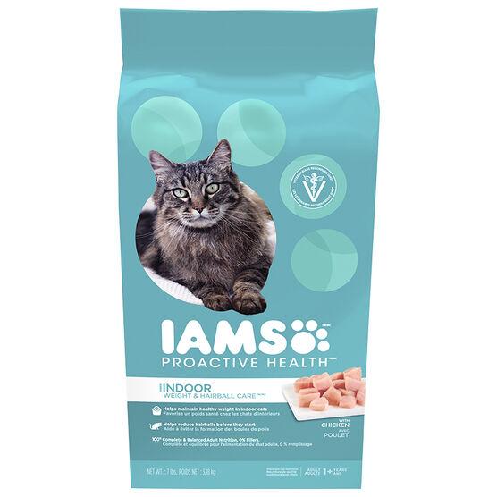 Iams Cat Food - Weight Hairball Care - 7lbs