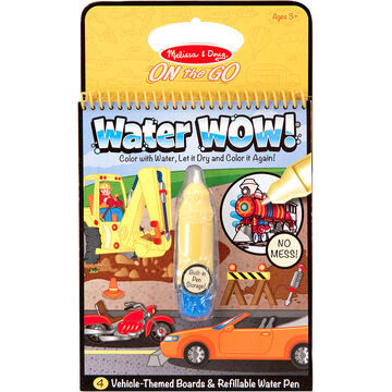 Melissa & Doug On the Go Water WOW! Activity Book - Vehicles - 5375