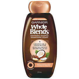 Garnier Whole Blends Smoothing Shampoo - Coconut Oil & Cocoa Butter - 370ml