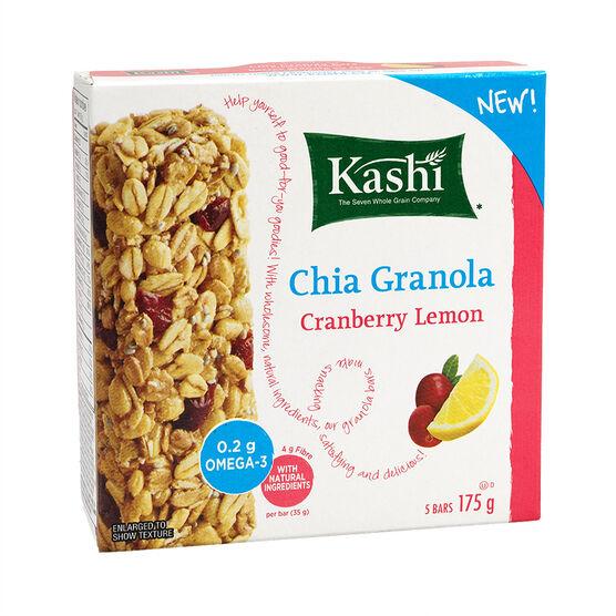 Kashi Chewy Chia Granola Bar - Cranberry Lemon - 5 pack - 175g
