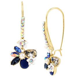 Betsey Johnson Flower Earrings - Blue/Multi
