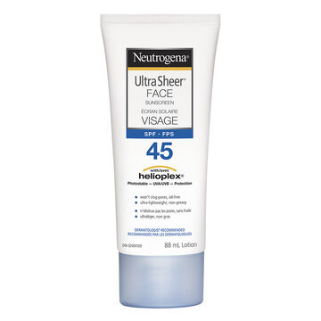 Neutrogena Ultra Sheer Face Sunscreen Lotion - SPF 45 - 88ml