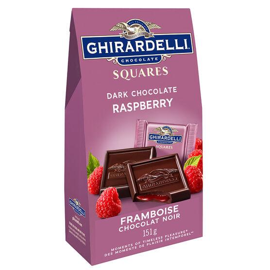 Ghirardelli Dark Chocolate Squares - Raspberry - 151g