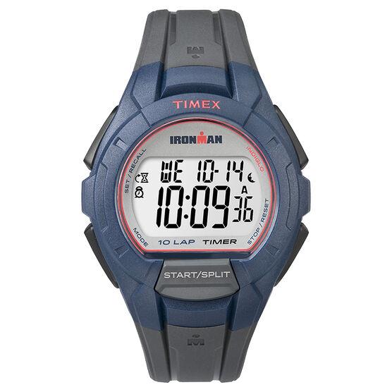 Timex Ironman Full Size Watch - Grey/Blue - TW5K94100GP