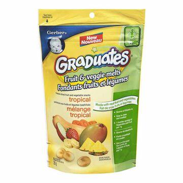 Gerber Graduates Fruit & Veggie Melts Snack - Truly Tropical Blend - 28g