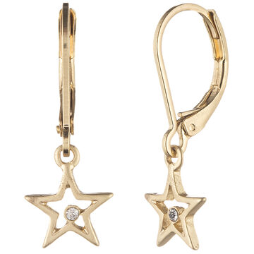 Lonna & Lilly Star Drop Earrings - Gold Tone