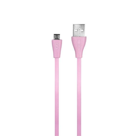 Logiix Flat Flex Micro USB Cable - Limited Edition - Rose - LGX12214