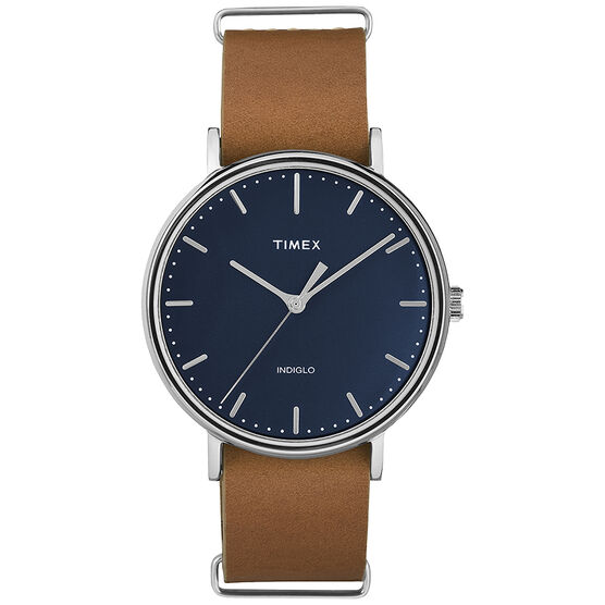Timex Weekender Fairfield Watch - Blue/Tan - TW2P97800GP
