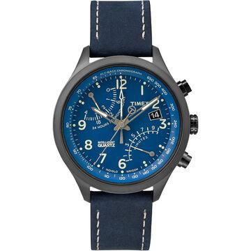 Timex IQ Fly-Back Chronograph - Blue/Grey - T2N380ZL