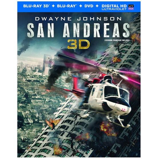 San Andreas 3D - 3D Blu-ray