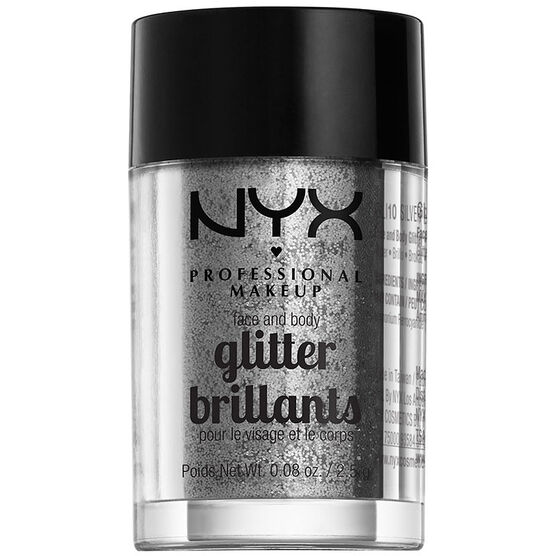 NYX Face and Body Glitter - Silver