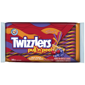 Twizzler Pull'n'Peel Licorice - Fruit Punch - 340g