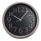 London Drugs Wall Clock - Mary - Silver/Black
