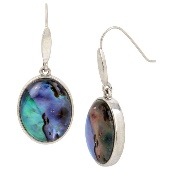 Kenneth Cole Round Earring - Abalone/Silver