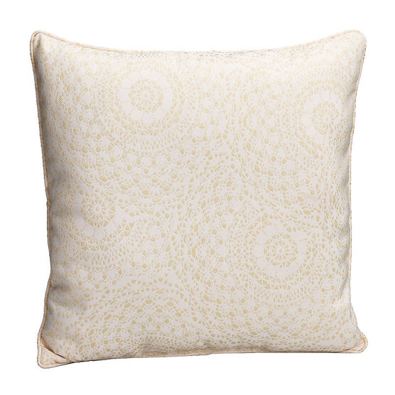 London Drugs Brocade Cushion - Cream