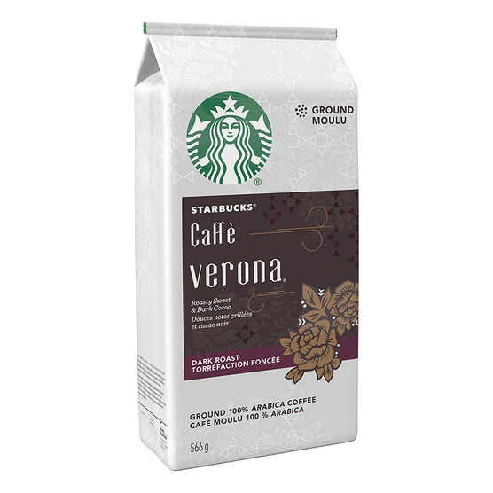 Starbucks Café Verona Ground Coffee - Dark Roast - 566g