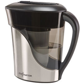 ZeroWater Pitcher - Stainless Steel - 8 cup