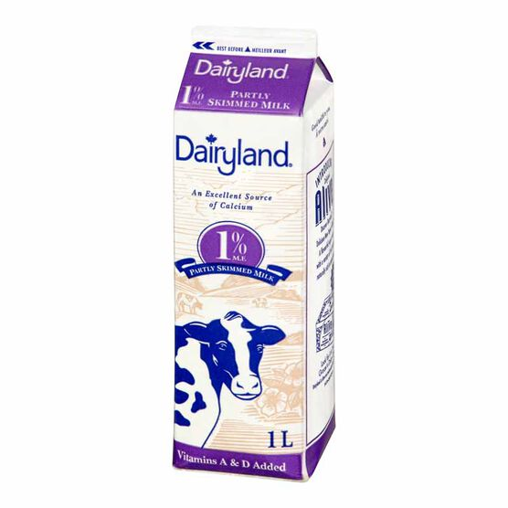 Dairyland 1% Milk - 1L