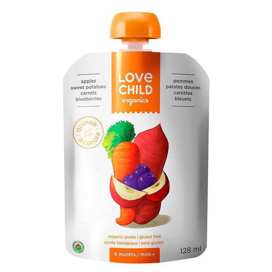 Love Child Apples Sweet Potatoes Carrots Blueberries - 128ml