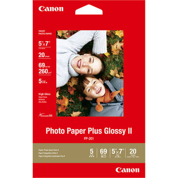Canon PP-201 Photo Paper Plus Glossy 2 - 5 x 7 inch - 20 sheets - 2311B024