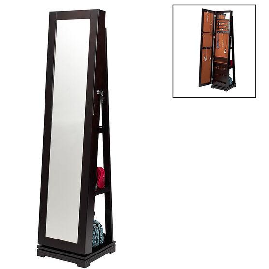 London Drugs Mirror Jewellery Cabinet - Espresso - AV8539