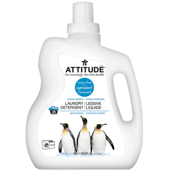 Attitude Laundry HE Detergent - Wildflowers - 1.8L