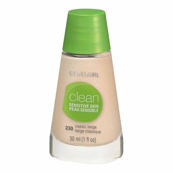 CoverGirl Clean Liquid Makeup for Sensitive Skin - Classic Beige