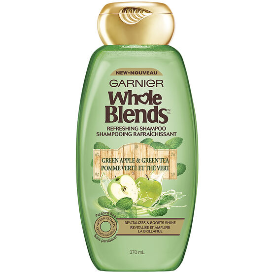 Garnier Whole Blends Refreshing Shampoo - Green Apple & Green Tea - 370ml