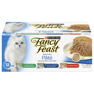 Fancy Feast Seafood Variety Pack - 12 x 85g