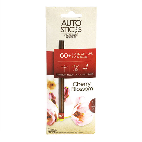Auto Air freshener Sticks - Cherry Blossom - 3's
