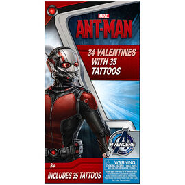 Ant-Man Valentines with Temporary Tattoos - 34s - 4153185