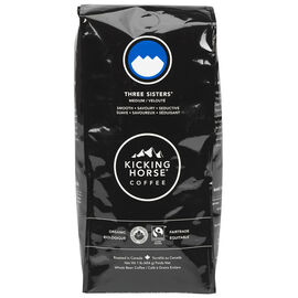 Kicking Horse Organic Whole Bean Medium Coffee - Three Sisters - 454g