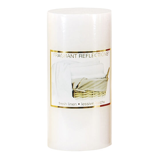 Fragrant Reflections Pillar Candle - Fresh Linen - 6inch